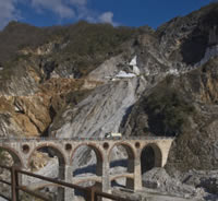 Half day tour to Carrara marble quarries and Colonnata